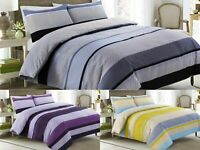 DUVET SET NEGATIVE STRIPE BEDDING BED SETS SINGLE DOUBLE KING SIZE QUILT COVER