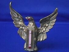 Vintage Brass Metal Eagle Bird of Prey Thermometer Raised Wings Freestanding
