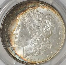 1904-O Morgan Dollar PCGS MS 63 Very Pretty Rim Toning