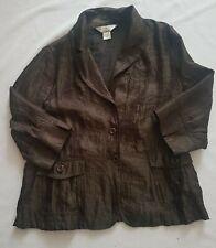 Allison Daley Petite Women's Brown Blazer Jacket Size 12P