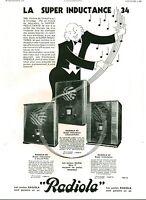Publicité ancienne poste Radiola 1933 issue de magazine