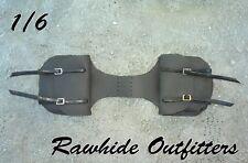 1/6 Black Genuine Leather Saddle Bags