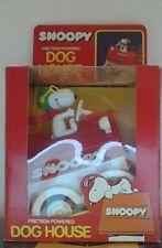 Vintage Peanuts Snoopy Flying Ace Aviva Large Friction Powered Dog House