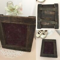VERY VERY Old Vintage Rustic Wooden Crude Shaker Photo Picture Frame