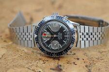 1977 Croton Chronograph Aviator Sea Diver Valjoux 7765