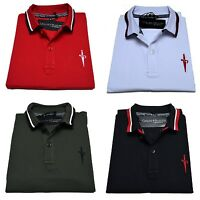 Polo Cesare Paciotti Uomo Men t-shirt 100% Monte Carlo Nero Bianco Rosso Grigio
