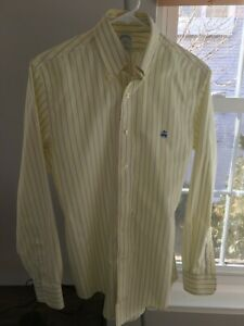 Brooks Brothers Mens All Supima Cotton Non-Iron Original Polo Dress Shirt Size S