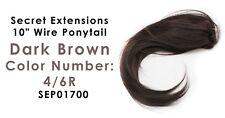 "Secret Extensions 10"" Wire Ponytail Color Dark Brown 4/6R  SEP01700"