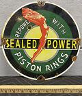 Sealed+Power+Porcelain+Pump+Plate+Sign+Piston+Rings+Engine+Motor+Gas+Station+Oil