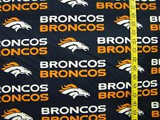 NFL DENVER BRONCOS BLUE 100% COTTON FABRIC BY THE 1/2 YARD