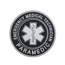 3D PVC EMS MEDIC CROSS STAR EMT PARAMEDIC TACTICAL ARMY MORALE RUBBER PATCH DARK
