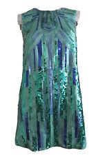 GILES DEACON BLUE SEQUIN 60'S 70'S SHIFT PARTY DRESS UK 6 EU 34 XS BNWT RARE