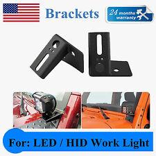 """2X 3"""" 4'' LED Light Driving Lamp Mount Bracket For Jeep Wrangler JK 07-Now QUIN"""