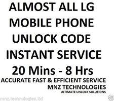 Unlock code LG G3 D850 Stylus D693 G Flex2 H950 p705g G4 Stylus H635C Claro PR