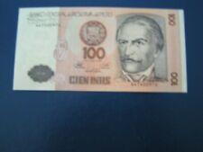 Banknote von Peru, 100 Intis, 1987, A4740097U, bankfrisch