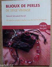 ) livre Bijoux de perles de style vintage - Deborah Schneebeli-Morrell