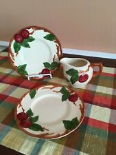 Vintage Lot of Franciscan Apple - Bread Plates and Creamer