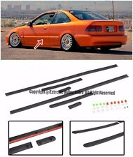 For 96-00 Honda Civic EK 2Dr Coupe JDM Clip On Style Side Moling Trim Panels Kit