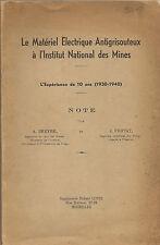 RARE ! - Le matériel Antigrisouteux des Mines 1940 - Breyre - Fripiat - 6 Photos