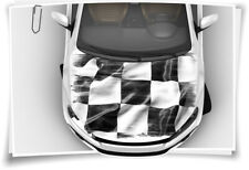 Rennen Flagge Karo Motorsport Motorhaube Auto-Aufkleber Steinschlag-Schutz-Folie