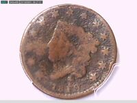 1819 Large Cent PCGS Genuine Bent - G Details Small Date 29601506 Video