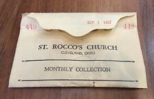 VTG St. Rocco's Church Cleveland OH Monthly Collection Envelope September 1957