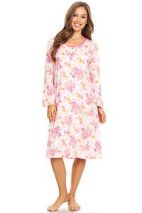 6007 Women Nightgown Sleepwear Pajamas Woman Long Sleeve Sleep Dress Nightshirt