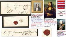 Lettre 1840 au Comte DE GIRARDIN descendant branche Lisa De Gherardini: JOCONDE.