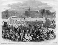 ABOLITION OF SLAVERY IN DISTRICT OF COLUMBIA NEGROES CELEBRATION BLACK HISTORY