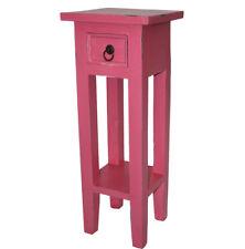 KMH® Telefontisch Telefonkonsole Blumentisch Beistelltisch Tisch Holz rosa