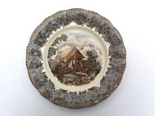 La Cartuja De Sevilla Pickman -Plate Transferware of Old Mill 25cm Made in Spain