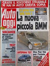 Auto OGGI n°191 1990 Test Lancia Thema 16 Valvole Renault 19 16 V  [Q201]