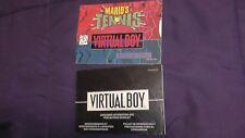 nintendo virtual boy mario's tennis & precautions manuals instruction booklets