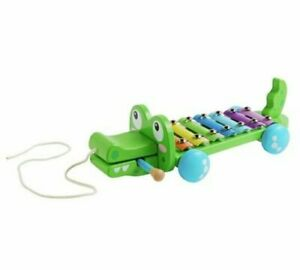 NEW Chad Valley Crocodile Xylophone Fun Shape And Clear Musical Notes