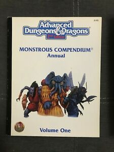 AD&D, 2nd Edition, Monstrous Compendium Annual, Volume One