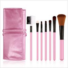7pcs Pink Makeup Brush Set Kit with Cosmetic Bag Case (BRAND NEW)