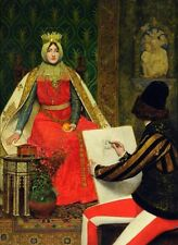 Oil Hand painted Linton - Queen Elizabeth of Hungary and the court painter