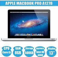 Apple MacBook Pro 9.2 13-inch A1278 Intel Core i5 3210M 2.5GHz 8GB RAM 500GB HDD