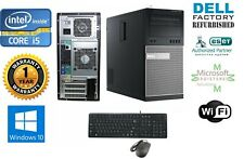 Dell Tower Computer Intel Core I5 2500 3.30GHz 16GB RAM *NEW 1TB HD Win 10 Wifi