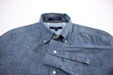 GANT Men Star Chambroy Fitted Casual Shirt Size S AOZ59