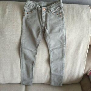 ZARA KIDS Girl's Skinny Stretch Jeans - Distress look - Size 3-4