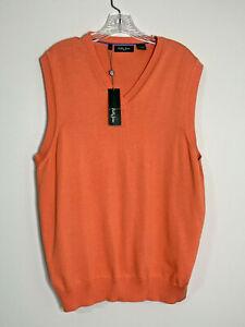 NWT Bobby Jones Sweater Vest Golf Pima Cotton Persimmon Size Large New