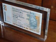 rare BILLET 20 dollars twenty HONG KONG 1998 standard chartered bank ART money