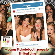 Personalised Instagram Social Media Photobooth Frame for Photo Booth Props Party