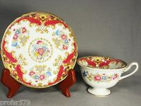 Shelley - SHERATON PINK SCALLOPED - Footed Cup & Saucer Set