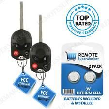 2 For 2012 2013 2014 2015 2016 Ford Focus Keyless Uncut Car Remote Key Fob