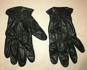 BLACK LEATHER DRESS DRIVING WINTER GLOVES MENS SIZE XL