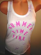 Victoria's Secret~Pink~sz S/P  Tank Top SUMMER TIME FINE