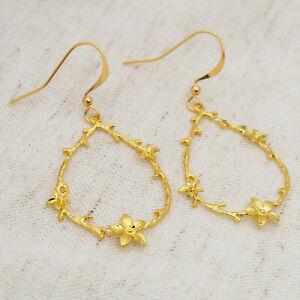 Floral Chandelier Teardrop Drop Earrings, Branch, Twig, Dangle, Ladies, UK