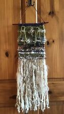 Hand Weaved Wall Hanging With Handspun Art Yarn